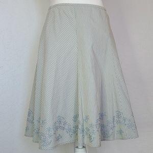 NWT Ann Taylor petite pinstripe skirt 2p